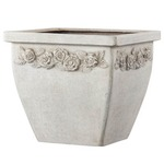 ファイバー製軽量植木鉢 アンティークローズライト スクエアー 36cm/植木鉢