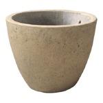 【2個入】 軽量コンクリート製 植木鉢/プランター 【クリーム 直径18cm】 底穴あり 『フォリオ エッグ』