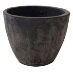 【2個入】 軽量コンクリート製 植木鉢/プランター 【ブラックウォッシュ 直径23cm】 底穴あり 『フォリオ エッグ』