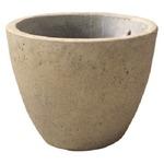【2個入】 軽量コンクリート製 植木鉢/プランター 【クリーム 直径23cm】 底穴あり 『フォリオ エッグ』
