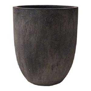 軽量コンクリート製植木鉢 フォリオ アルトエッグ ブラックウォシュ 31cm