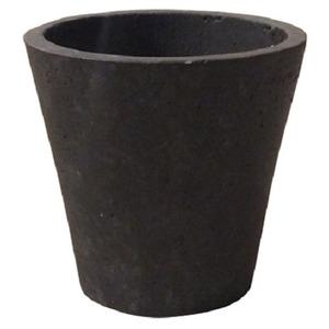 【2個入】軽量コンクリート製植木鉢/プランター【ダークブラウン直径23cm】底穴あり『フォリオソリッド』