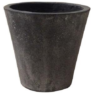 軽量コンクリート製植木鉢 フォリオ ソリッド ブラックウォッシュ 43cm