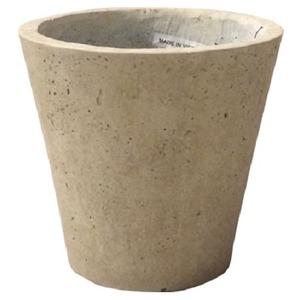 軽量コンクリート製植木鉢 フォリオ ソリッド クリーム 43cm