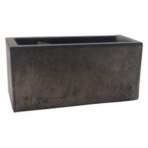 軽量コンクリート製植木鉢 フォリオ プランター ブラックウォッシュ 37cm