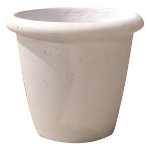 軽量コンクリート製植木鉢 フォリオ リムス ホワイト 33cm