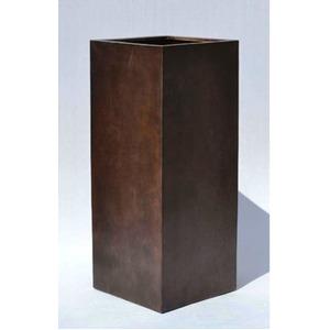 木目調樹脂製鉢カバー MOKU クアドラ H100cm