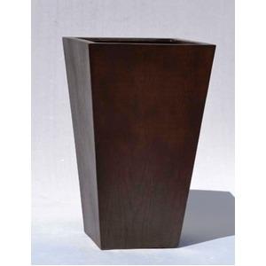 木目調樹脂製鉢カバー MOKU スクエアー 33cm