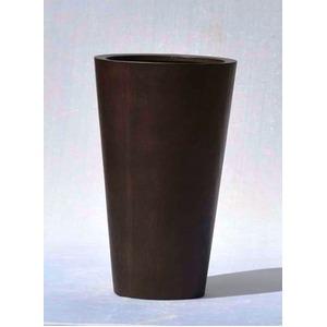 木目調樹脂製鉢カバー MOKU ラウンド 40xH65cm