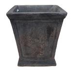 アンティーク調・テラコッタ鉢 ローレル スクエアー アンティコ ダルブラウン 27cm /植木鉢