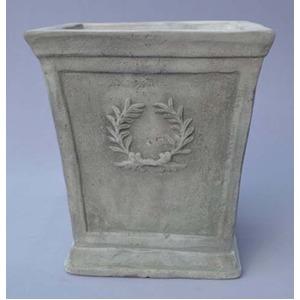 アンティーク調・テラコッタ鉢 ローレル スクエアー アンティコ シューホワイト 27cm /植木鉢