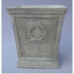 アンティーク調・テラコッタ鉢 ローレル スクエアー アンティコ シューホワイト 33cm /植木鉢 の画像
