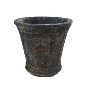 アンティーク調・テラコッタ鉢 ローレル ラウンド アンティコ ダルブラウン 33cm /植木鉢