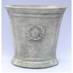 アンティーク調・テラコッタ鉢 ローレル ラウンド アンティコ シューホワイト 40cm /植木鉢