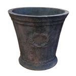 アンティーク調・テラコッタ鉢 ローレル ラウンド アンティコ ダルブラウン 40cm /植木鉢