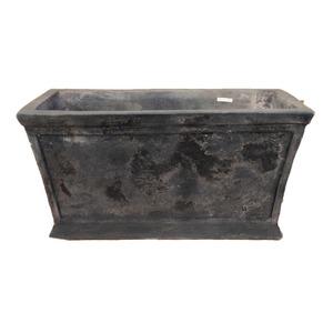 アンティーク調・テラコッタ鉢 ローレル レクタングル アンティコ ダルブラウン 72cm 植木鉢
