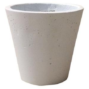軽量コンクリート製植木鉢 フォリオ ソリッド ホワイト 31cm