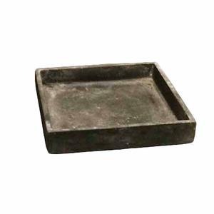 軽量コンクリート製植木鉢 フォリオ ソーサー ブラックウォッシュ □26cm 【2個入り】