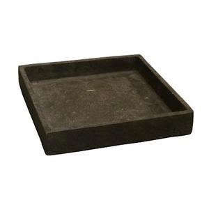 軽量コンクリート製植木鉢 フォリオ ソーサー ダークブラウン □26cm 【2個入り】