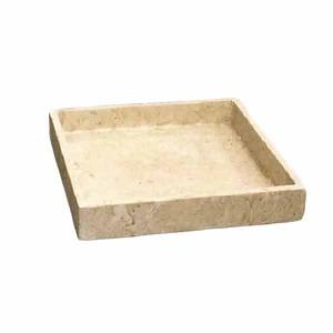 軽量コンクリート製植木鉢 フォリオ ソーサー クリーム □26cm 【2個入り】
