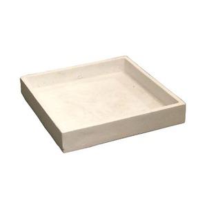 軽量コンクリート製植木鉢 フォリオ ソーサー ホワイト □26cm 【2個入り】