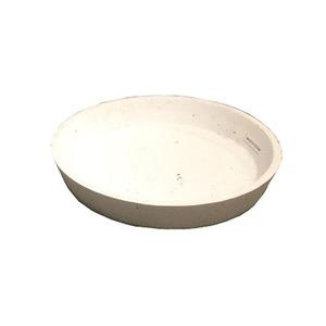 軽量コンクリート製植木鉢 フォリオ ソーサー ホワイト 19.5cm 【3個入り】