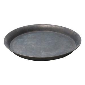 【3個入】 ブリキ製植木鉢用受け皿/ソーサー 【ブラウン 直径30cm】 円形 ソーサーBR 『ウーノ』