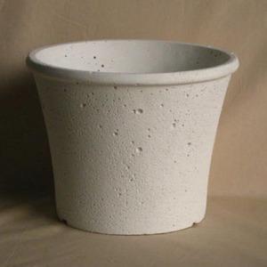 ストーンポット 24cm ホワイト 穴有り 皿無 2個入り/植木鉢
