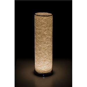 LEDコードレス 和室 モダン照明 LF550スタンドライト青海波立体 【日本製】の詳細を見る