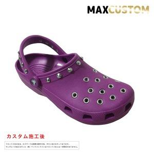 クロックス パンク カスタム 紫 crocs custom クラシック(ケイマン) クロッグ サンダル 24cm(M6/W8)