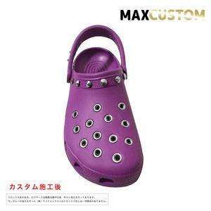 クロックス パンク カスタム 紫 crocs custom クラシック(ケイマン) クロッグ サンダル 27cm(M9/W11)