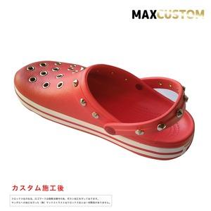 クロックス クロックバンド パンク カスタム 赤 flame crocs custom crocband クロッグ サンダル 24cm(M6/W8)