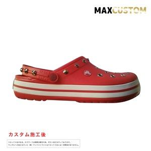 クロックス クロックバンド パンク カスタム 赤 flame crocs custom crocband クロッグ サンダル 26cm(M8/W10)