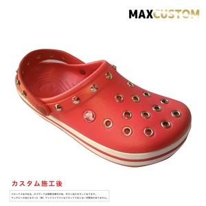 クロックス クロックバンド パンク カスタム 赤 flame crocs custom crocband クロッグ サンダル 27cm(M9/W11)