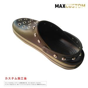 クロックス クロックバンド パンク カスタム 茶 espresso crocs custom crocband クロッグ サンダル 22cm(M4/W6)