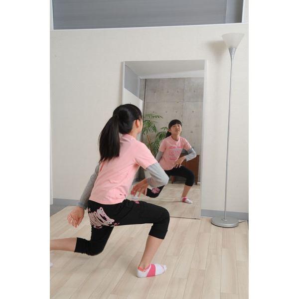 プロ仕様!割れない鏡 【REFEX】リフェクス 姿見 大型 壁掛け対応スタンドミラーW90cm×180cm×2.7cm シルバー色 RM-12 【日本製】2