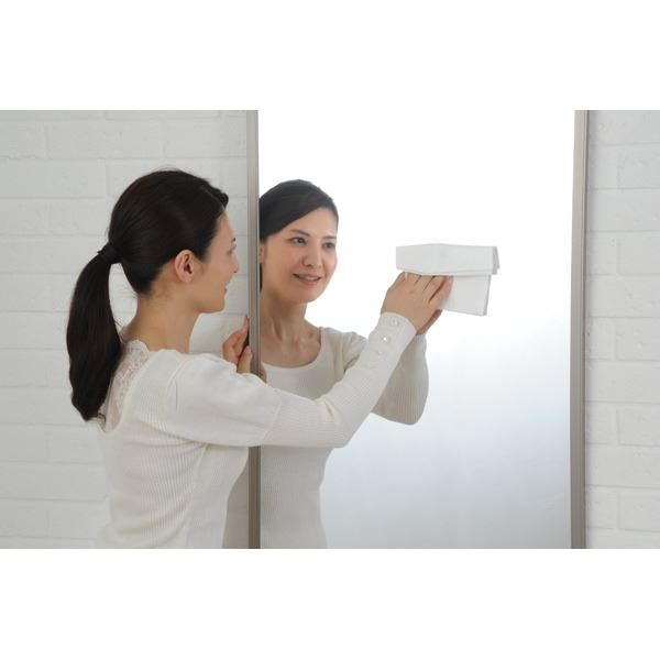 プロ仕様!割れない鏡 【REFEX】リフェクス 姿見 大型 壁掛け対応スタンドミラーW90cm×180cm×2.7cm シルバー色 RM-12 【日本製】3