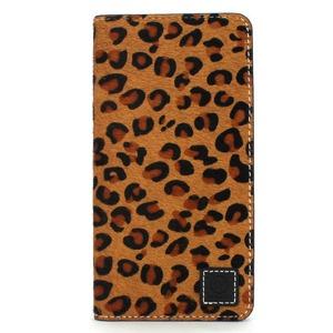 iPhone6 Plus/6s Plus ケース 手帳  本革 Wetherby・Premium Black iPhone6 Plus iPhone6s Plus レザー 本革 (Fur Leopard) - 拡大画像