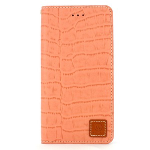 iPhone6 Plus/6s Plus ケース 手帳  本革 Wetherby・Premium Croco iPhone6 Plus iPhone6s Plus レザー 本革 (Indi Pink) - 拡大画像