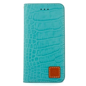 iPhone6 Plus/6s Plus ケース 手帳  本革 Wetherby・Premium Croco iPhone6 Plus iPhone6s Plus レザー 本革 (Emerald) - 拡大画像