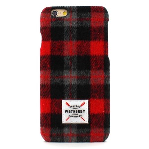iPhone6s アイフォン6s ケース iPhone6 カバー DESIGNSKIN Wetherby Tweed Bartype for iPhone6 iPhone6s ケ−ス カバー ツイード ハードケース アイフォンカバー (Red)