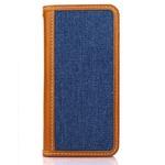 iPhone6 /6S ケース 手帳 本革 DENIM iPhone6 iPhone6S レザー 本革 (BLUE)