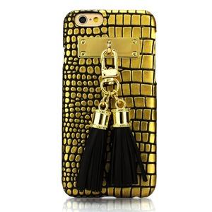 iPhone6  ケース カバー DESIGNSKIN Tassel Bartype for iPhone 6s  (Suqare Gold) h01