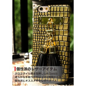 iPhone6  ケース カバー DESIGNSKIN Tassel Bartype for iPhone 6s  (Suqare Gold) h02