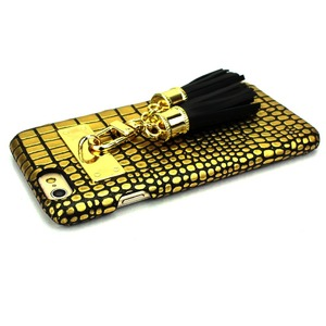 iPhone6  ケース カバー DESIGNSKIN Tassel Bartype for iPhone 6s  (Suqare Gold) f06
