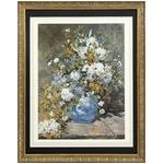 【世界の名画古銭額装】ルノアール「春の花束」(複製画)(509×394mm)