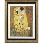 【世界の名画古銭額装】クリムト「接吻」(複製画)(509×394mm)