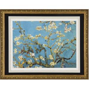 【世界の名画古銭額装】ゴッホ「花咲くアーモンドの枝」(複製画)(509×394mm)