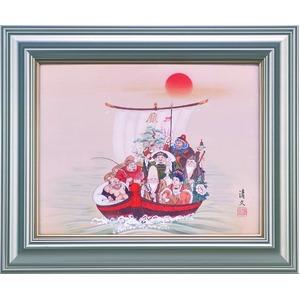 【加藤清文 作画】「七福神宝舟 F6額」(46cm×55cm) - 拡大画像