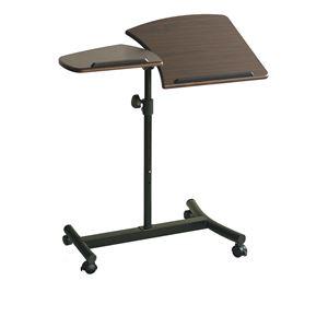 サイドテーブル 幅72.5cm キャスター付き 6段階昇降式/天板角度4段階調整可 - 拡大画像